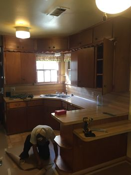 Before & After Kitchen Cabinet Painting in Houston, TX (1)