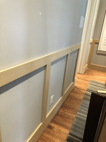 Installing Wainscoting and Interior Painting in The Heights Houston, Tx (3)