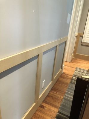 Installing Wainscoting and Interior Painting in The Heights Houston, Tx (1)