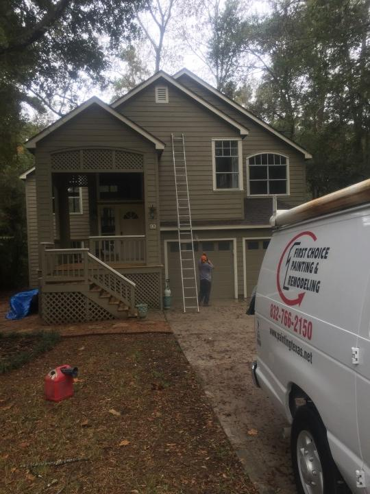 Before & After Exterior Painting in The Woodlands, TX